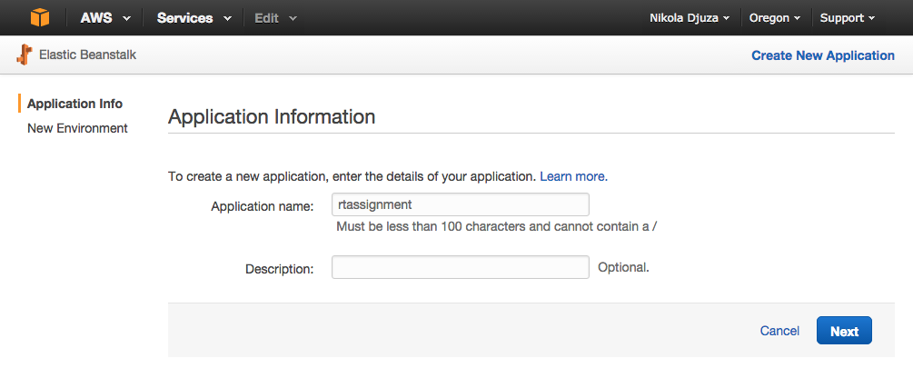 AWS Choose Application